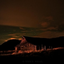 Outdoor;night;barn;Mormon-Row